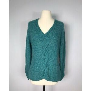 Icelandic Design Wool Blend Chunky Knit Sweater-M